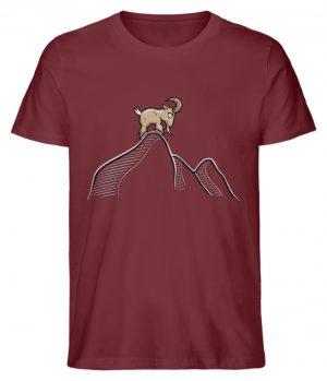 Ziegenbock in den Bergen - Herren Premium Organic Shirt-6883