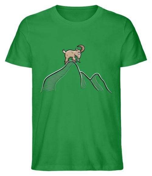 Ziegenbock in den Bergen - Herren Premium Organic Shirt-6890