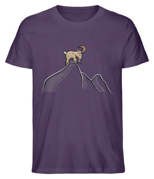 Ziegenbock in den Bergen - Herren Premium Organic Shirt-6884