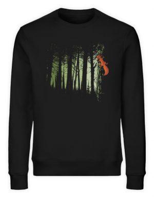 Eichhörnchen im Zwielicht-Wald - Unisex Organic Sweatshirt-16