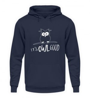 Its OWL good | Easy-Going Eule - Unisex Kapuzenpullover Hoodie-1698