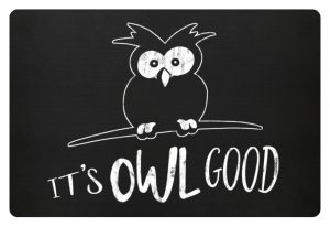 Its OWL good | Easy-Going Eule - Fußmatte-16