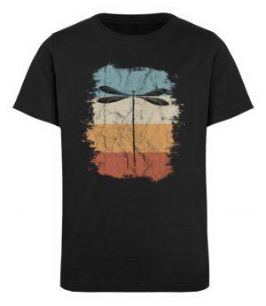 Retro Art Libelle | Vitage Libellen-Silhouette - Kinder Organic T-Shirt-16