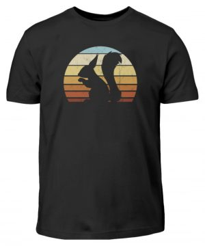 Retro Eichhörnchen Silhouette Squirrel - Kinder T-Shirt-16