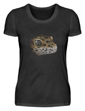 Leopard Gecko Skizze Kritzel-Kunst - Damen Premiumshirt-16