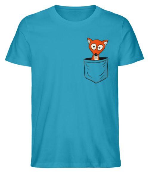 Fuchs in der Brusttasche | Taschen-Fuchs - Herren Premium Organic Shirt-6885