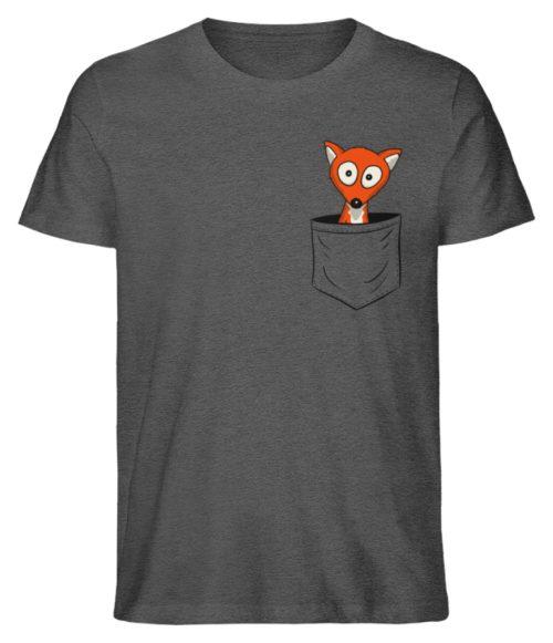 Fuchs in der Brusttasche | Taschen-Fuchs - Herren Premium Organic Shirt-6898