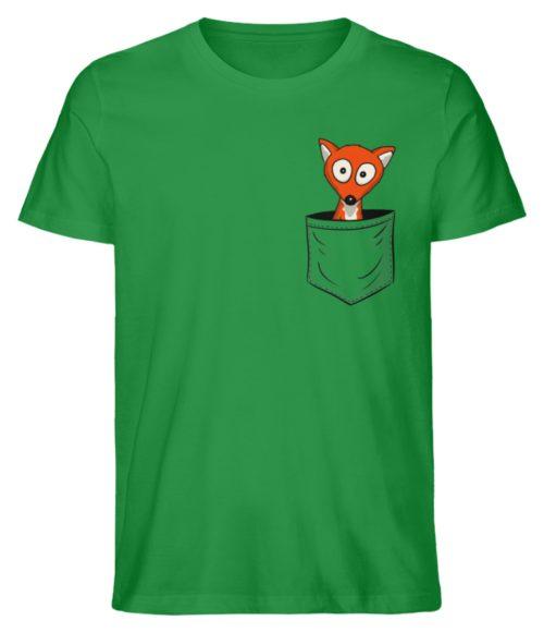 Fuchs in der Brusttasche | Taschen-Fuchs - Herren Premium Organic Shirt-6890
