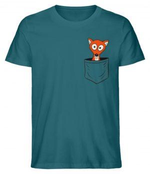 Fuchs in der Brusttasche | Taschen-Fuchs - Herren Premium Organic Shirt-6889