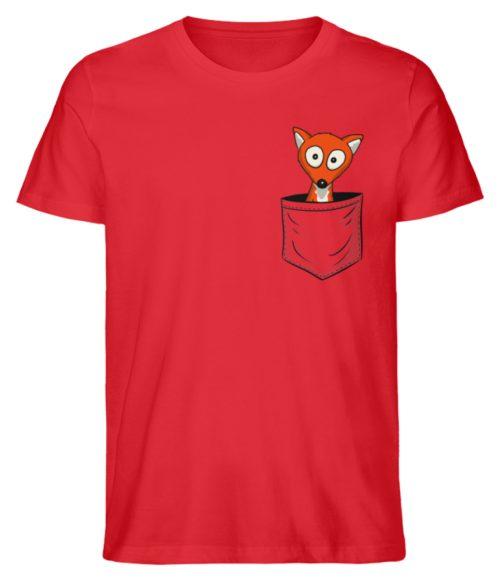 Fuchs in der Brusttasche | Taschen-Fuchs - Herren Premium Organic Shirt-6882