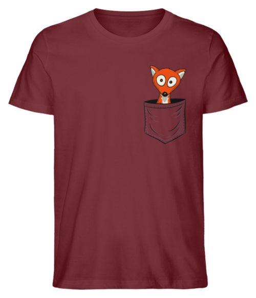 Fuchs in der Brusttasche | Taschen-Fuchs - Herren Premium Organic Shirt-6883