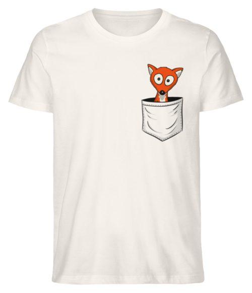Fuchs in der Brusttasche | Taschen-Fuchs - Herren Premium Organic Shirt-6881