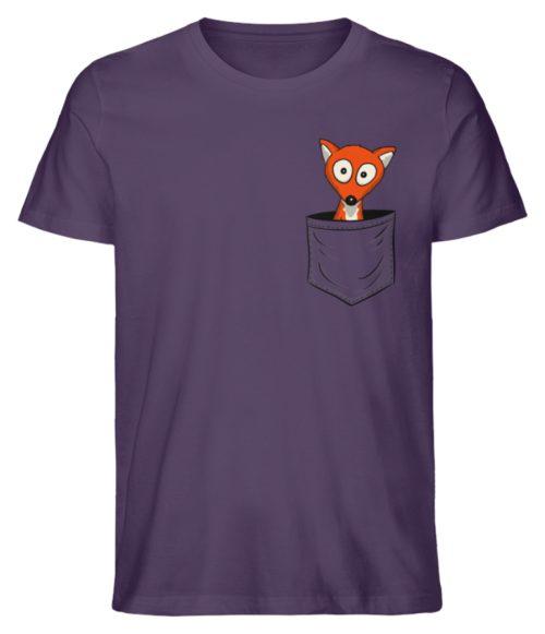 Fuchs in der Brusttasche | Taschen-Fuchs - Herren Premium Organic Shirt-6884