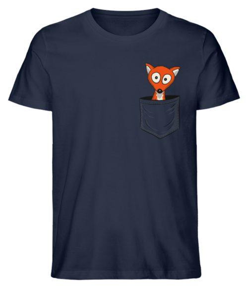 Fuchs in der Brusttasche | Taschen-Fuchs - Herren Premium Organic Shirt-6887