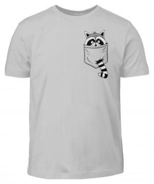 Waschbär in Deiner Brust-Tasche - Kinder T-Shirt-1157