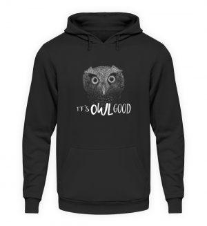 It-s OWL Good   Kritzel-Kunst-Eule - Unisex Kapuzenpullover Hoodie-1624