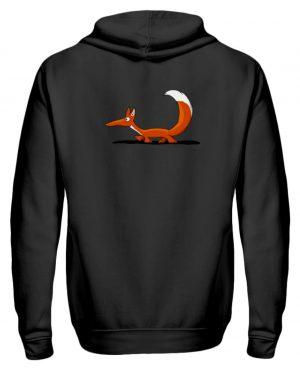 Lässiger cooler Fuchs | Mr. Fox, der Schleicher - Zip-Hoodie-16