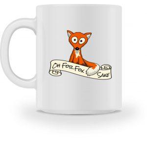 Oh For Fox Sake | Fuchs Wortspiel Tasse - Tasse-3