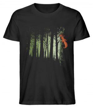 Eichhörnchen im Zwielicht-Wald - Herren Premium Organic Shirt-16