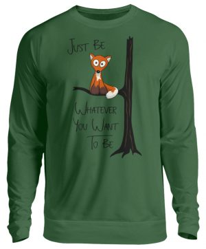 Just Be Whatever | Fuchs wie Eule - Unisex Pullover-833