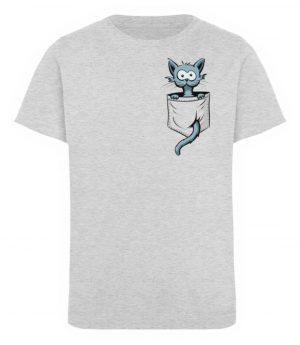 Verrückte Katze in Deiner Brust-Tasche - Kinder Organic T-Shirt-6892
