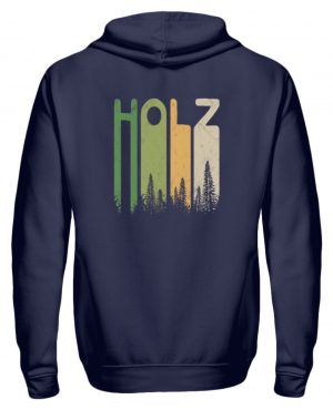 Retro Style Holz | Holziger Wald - Zip-Hoodie-198