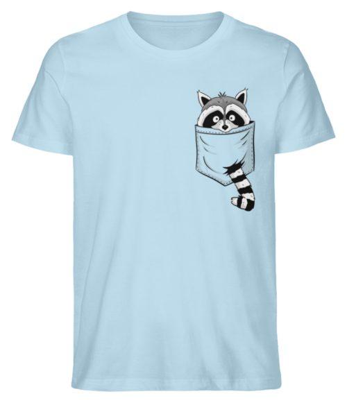 Waschbär in Deiner Brust-Tasche - Herren Premium Organic Shirt-6888