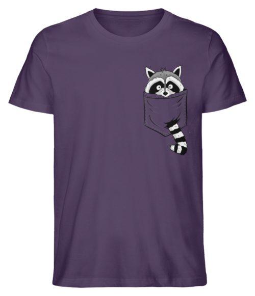 Waschbär in Deiner Brust-Tasche - Herren Premium Organic Shirt-6884