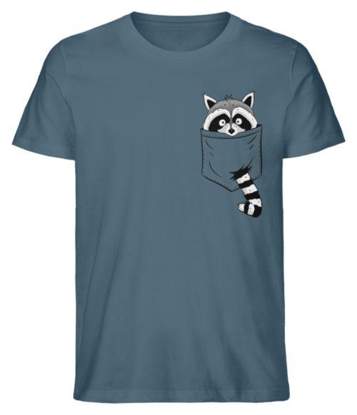 Waschbär in Deiner Brust-Tasche - Herren Premium Organic Shirt-6895