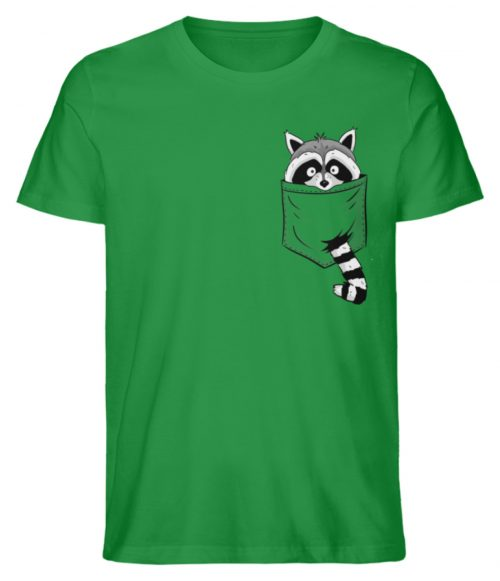 Waschbär in Deiner Brust-Tasche - Herren Premium Organic Shirt-6890