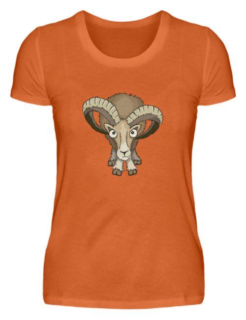 Bockiges Mufflon Widder Schafbock - Damen Premiumshirt-2953