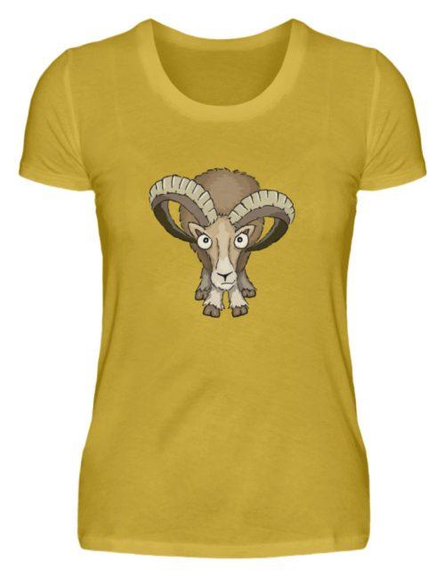 Bockiges Mufflon Widder Schafbock - Damen Premiumshirt-2980