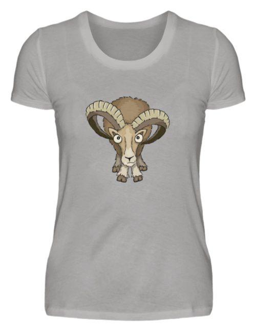 Bockiges Mufflon Widder Schafbock - Damen Premiumshirt-2998