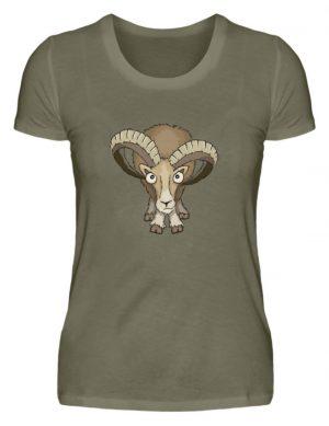 Bockiges Mufflon Widder Schafbock - Damen Premiumshirt-627