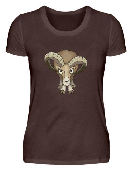 Bockiges Mufflon Widder Schafbock - Damen Premiumshirt-1074