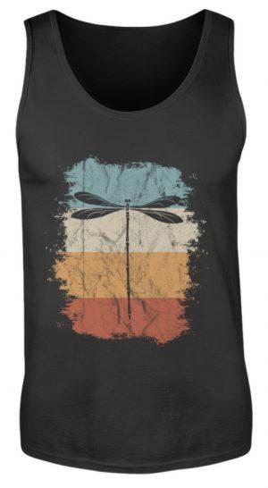 Retro Art Libelle | Vitage Libellen-Silhouette - Herren Tanktop-16
