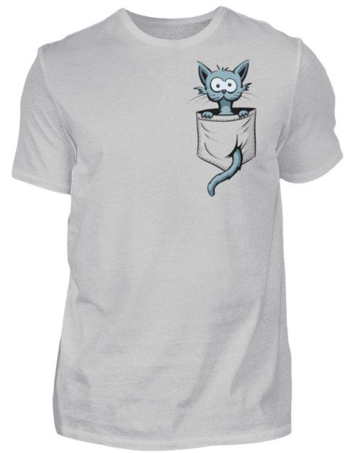 Verrückte Katze in Deiner Brust-Tasche - Herren Shirt-1157