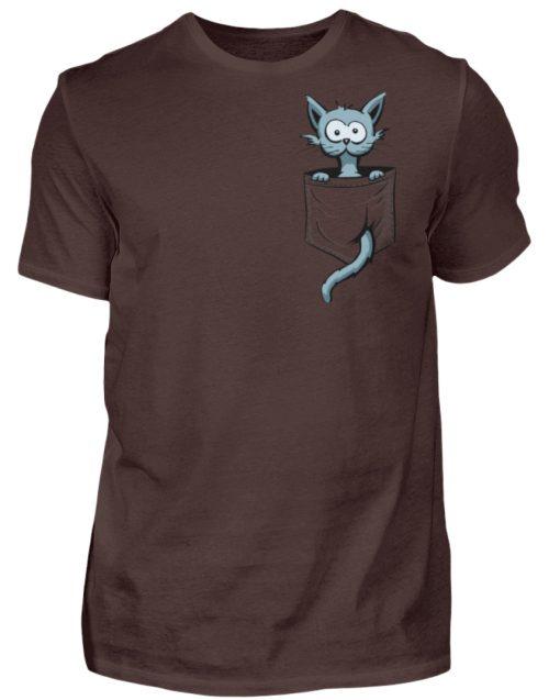 Verrückte Katze in Deiner Brust-Tasche - Herren Shirt-1074