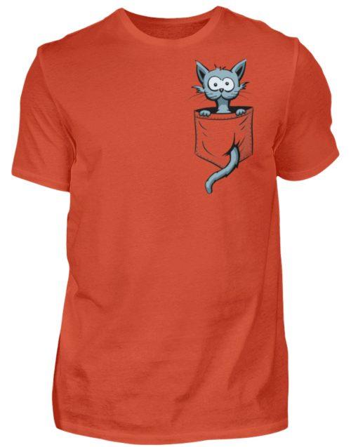 Verrückte Katze in Deiner Brust-Tasche - Herren Shirt-1236