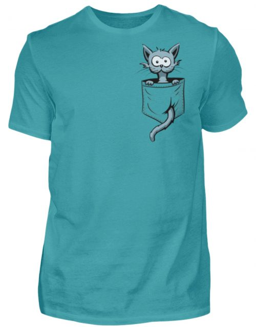 Verrückte Katze in Deiner Brust-Tasche - Herren Shirt-1242