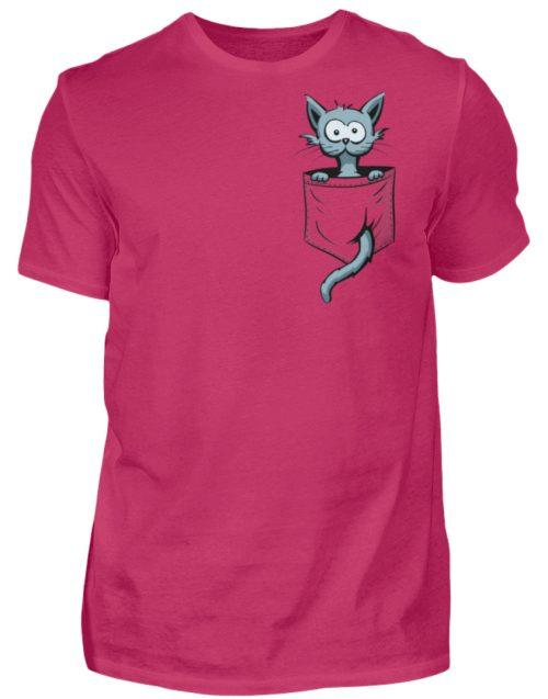 Verrückte Katze in Deiner Brust-Tasche - Herren Shirt-1216