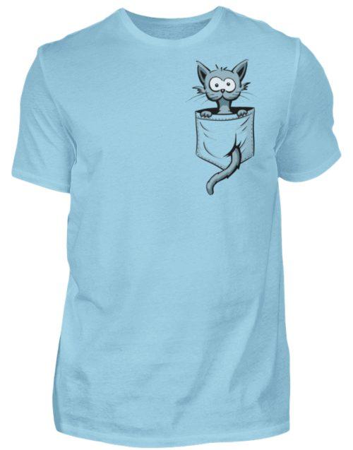Verrückte Katze in Deiner Brust-Tasche - Herren Shirt-674