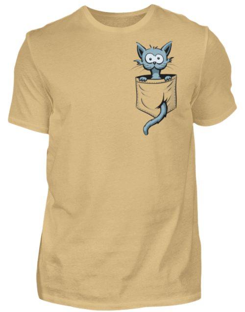 Verrückte Katze in Deiner Brust-Tasche - Herren Shirt-224