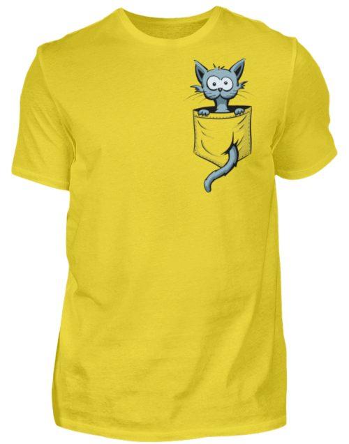 Verrückte Katze in Deiner Brust-Tasche - Herren Shirt-1102