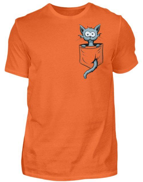 Verrückte Katze in Deiner Brust-Tasche - Herren Shirt-1692