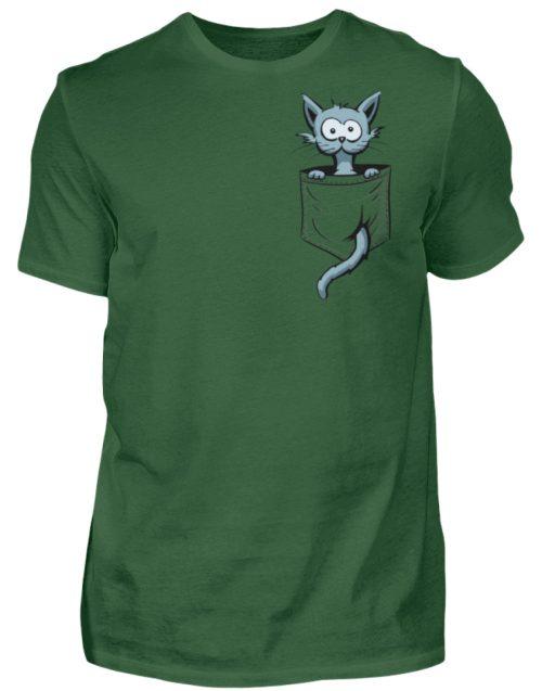 Verrückte Katze in Deiner Brust-Tasche - Herren Shirt-833