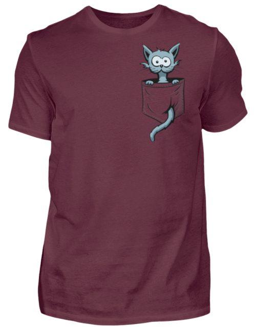 Verrückte Katze in Deiner Brust-Tasche - Herren Shirt-839