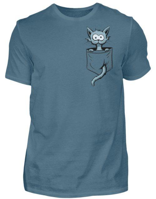 Verrückte Katze in Deiner Brust-Tasche - Herren Shirt-1230