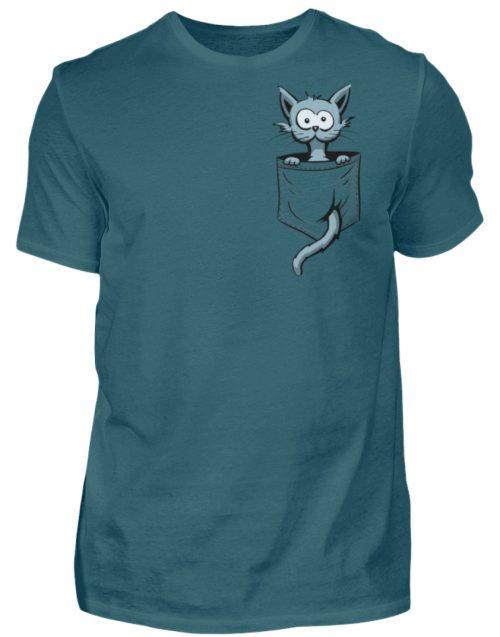 Verrückte Katze in Deiner Brust-Tasche - Herren Shirt-1096