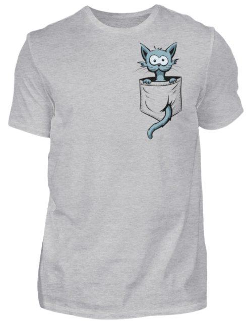 Verrückte Katze in Deiner Brust-Tasche - Herren Shirt-17